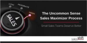 The Uncommon Sense Sales Maximizer Process
