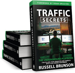 Traffic Secrets Book-stacked