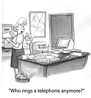 Who rings a telephone anymore