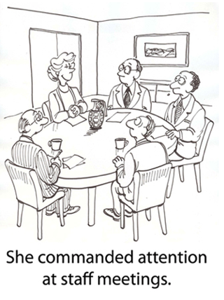 She commanded attention