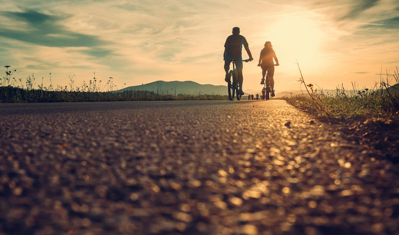Cycling home to where you're the happiest