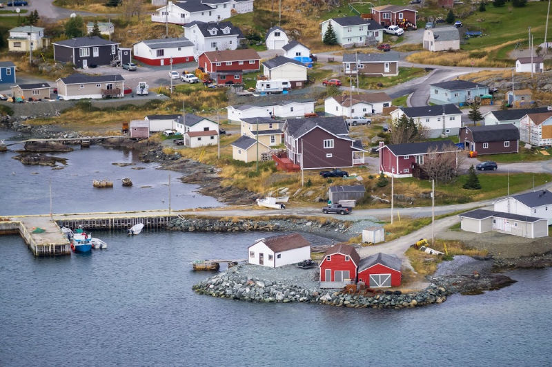 Aerial view of Saint Anthony, Nfld