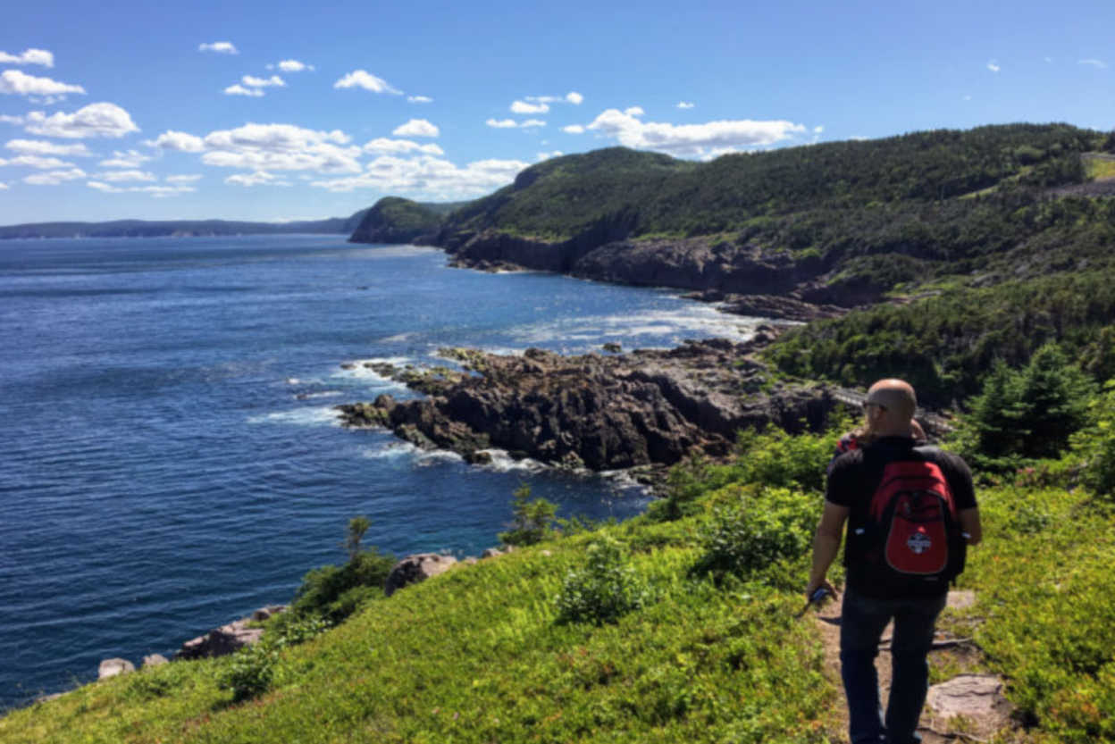 Hikers explore the rugged coasts