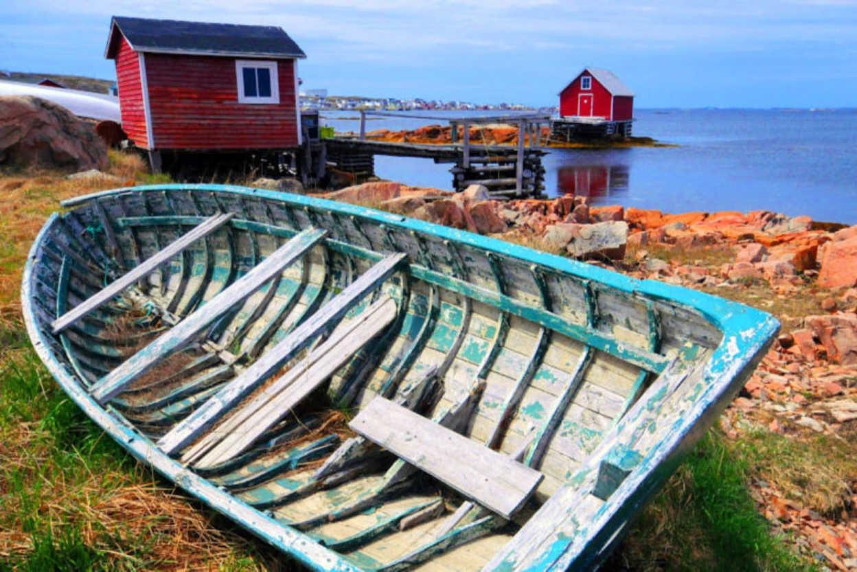 The Canadian fishing village of Fogo on Fogo Island, Newfoundland
